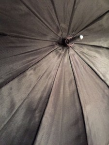 Repaired flash umbrella canopy.
